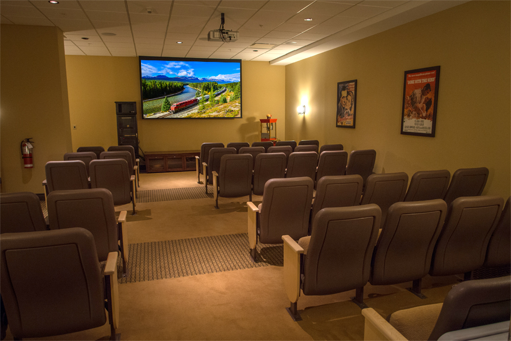 The theatre at Red Oak Retirement Residence