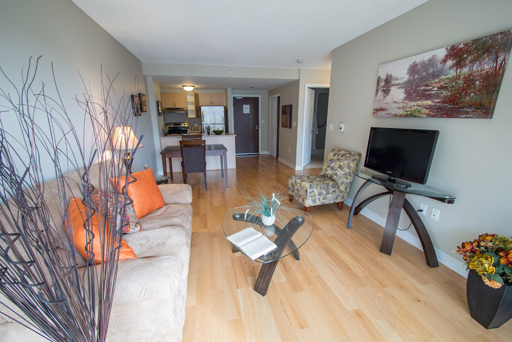 One of the suites at Red Oak Retirement Residence
