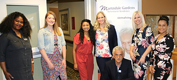 group photo of the team members from Martindale Gardens Retirement Residence