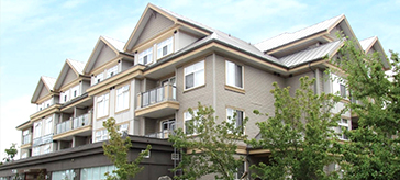 exterior shot of Peninsula Retirement Residence in Surrey