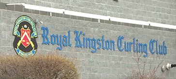 exterior view of Royale Kingston curling club thanks health care workers at Trillium Retirement and Care Community