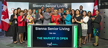 image of team members from Sienna Senior Living Inc. Opens the Market