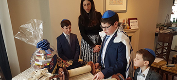 When Covid-19 concerns forced them to cancel all in-person celebrations, they moved the bar mitzvah to a livestream.