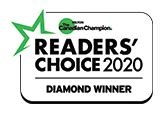 logo of 2020 Readers' Choice award
