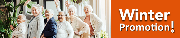 image of a group of female seniors posing for the photo cheerfully