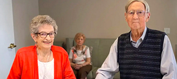 image of residents Ted and Connie Buckley 65th wedding anniversary at Quinte Gardens Retirement Residence