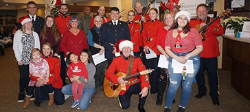 RCMP spread holiday cheer to Glenmore Lodge residents