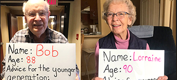 Seniors at Peninsula Retirement Residence are doling out words of wisdom for younger generation as a way to keep busy and stay connected to those in their community.