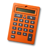 an orange calculator