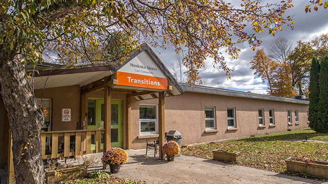 image of front entrance of Muskoka Shores Care Communityin Gravenhurst