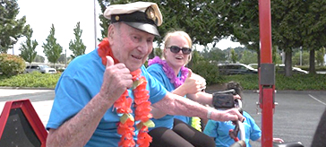 picture of a 106-year-old Port Coquitlam man is celebrating his birthday with a charity bike ride.