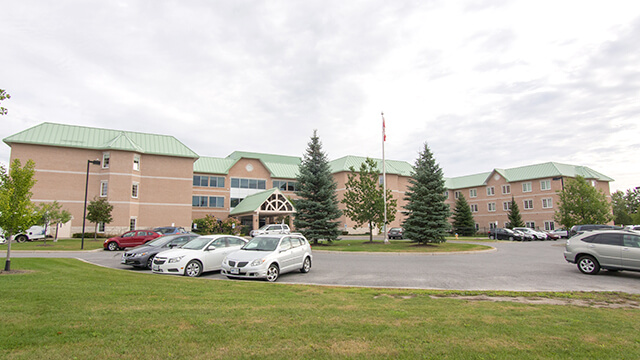 image of front entrance of Granite Ridge Care Community in Stittsville