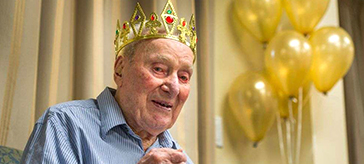picture of Don Simpson enjoying his 106 birthday party