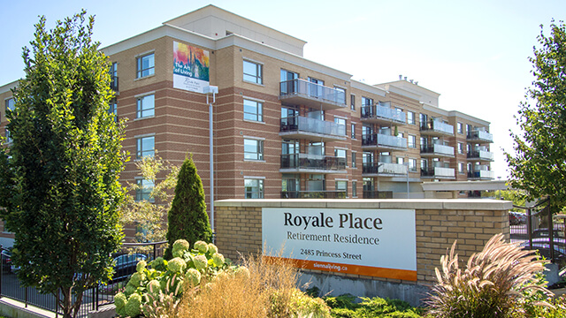 exterior shot of Royale Place Retirement Residence in Kingston