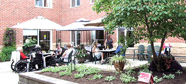 picture of the courtyard garden at Barnswallow Place Care Community, is part of the annual Elmira Garden