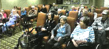 image of Martindale Gardens residents enjoying the event