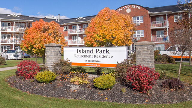 exterior shot of Island Park Retirement Residence in Campbellford