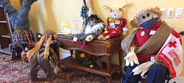 photo of scarecrow displays at Waterford Retirement Residence Barrie