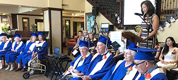 "image of the latest graduating class of ""Cyber Seniors."""