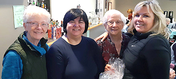 picture of the Sea Bonspiel event chair, Martha McArthur (left) is joined by Jenny and Bette Hutchinson, a senior retirement counselor from Peninsula Retirement Residence