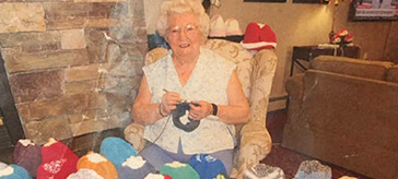 Daisy Ferguson, 92, has been crocheting toques for the past six years to donate to the Salvation Army, and in March 2020, she completed her 1,000th toque.