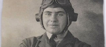 young image of war veteran, Ken Atkinson
